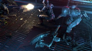 Aliens Colonial Marines Marines and Aliens Fighting