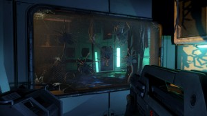 Aliens Colonial Marines Facehuggers on glass