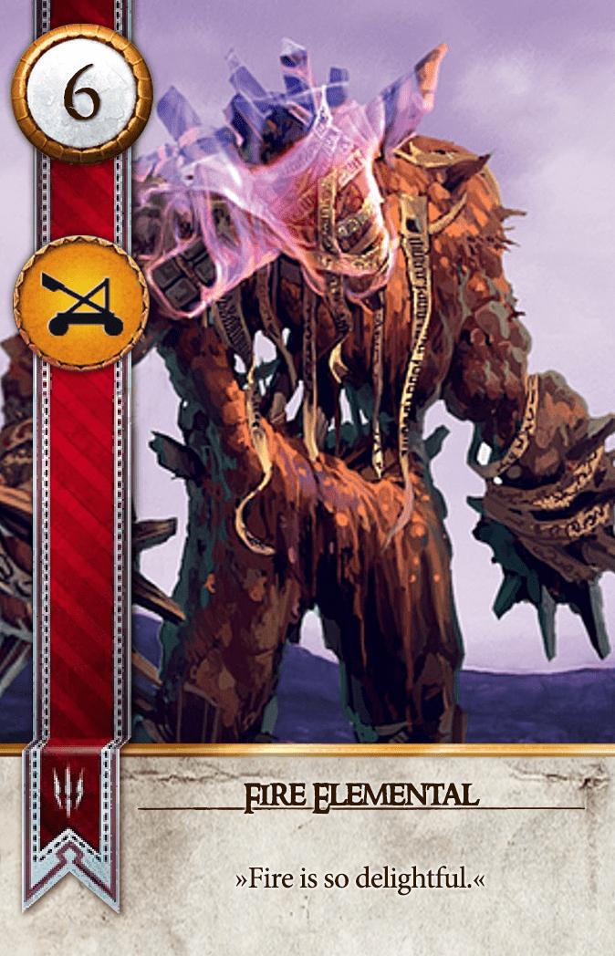 Fire Elemental Gwent Card
