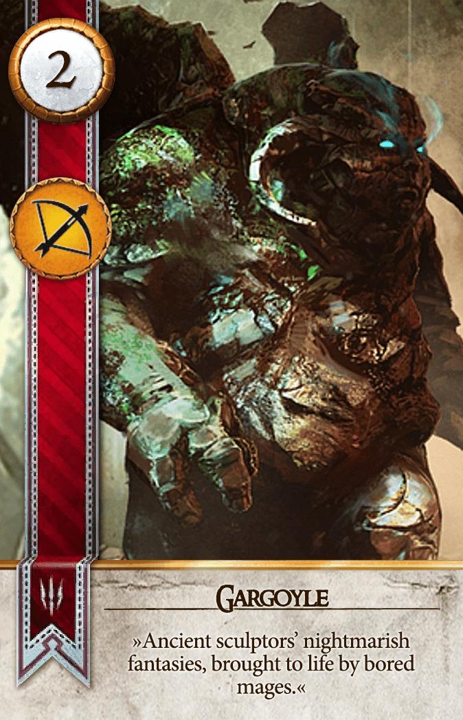 Gargoyle Gwent Card