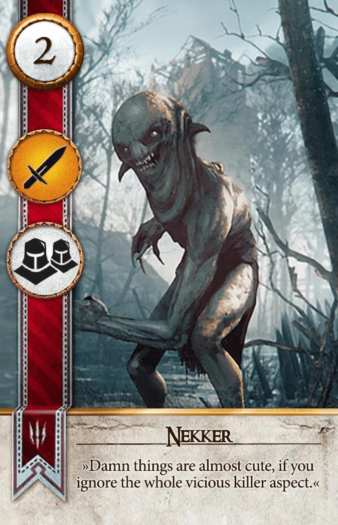 Nekker Gwent Card