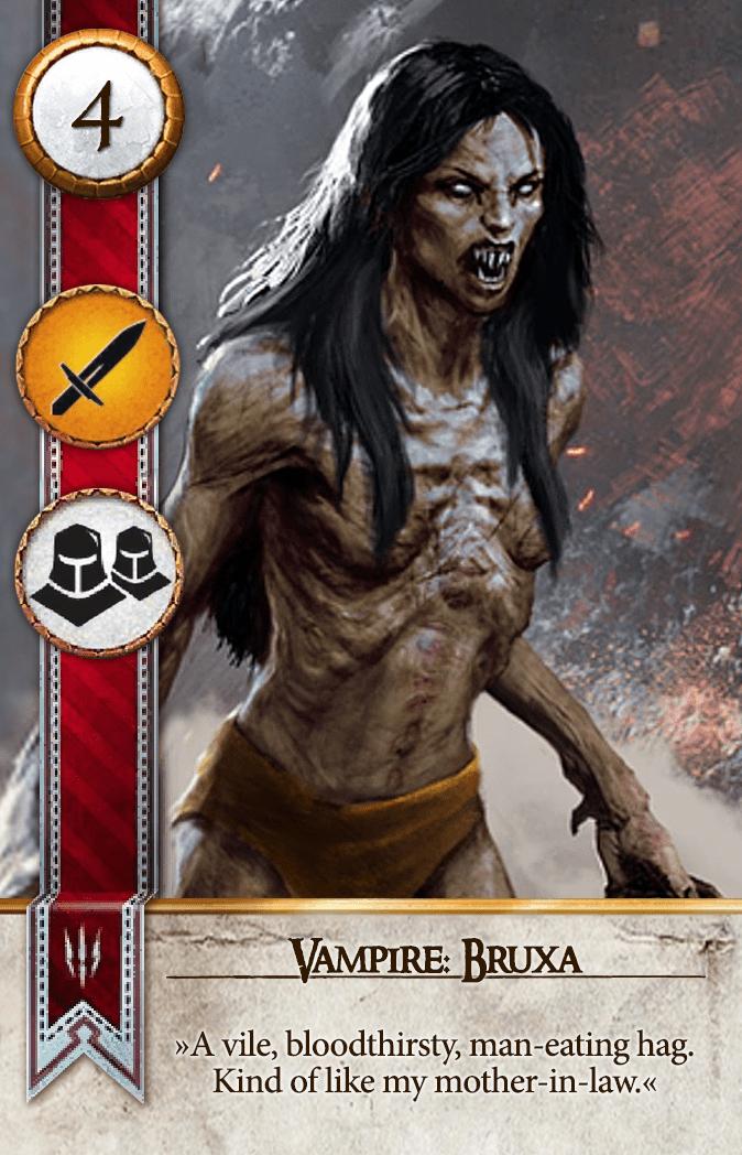 Vampire: Bruxa Gwent Card