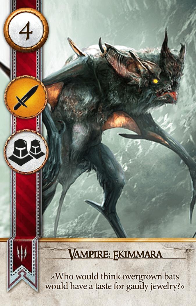 Vampire: Ekimmara Gwent Card