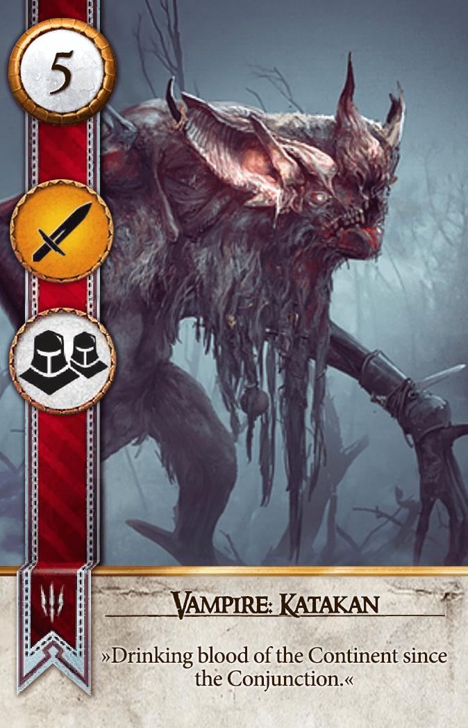 Vampire: Katakan Gwent Card