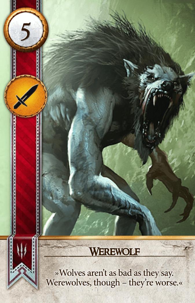Werewolf Gwent Card