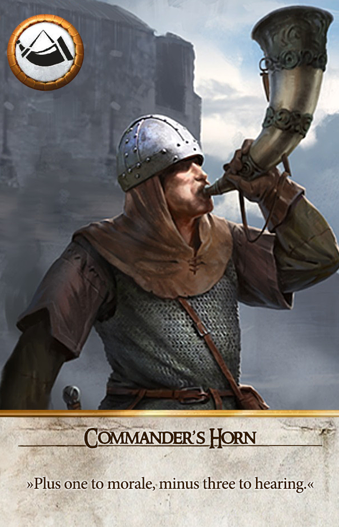 Commander's Horn Gwent Card