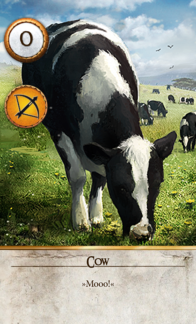 Cow Gwent Card