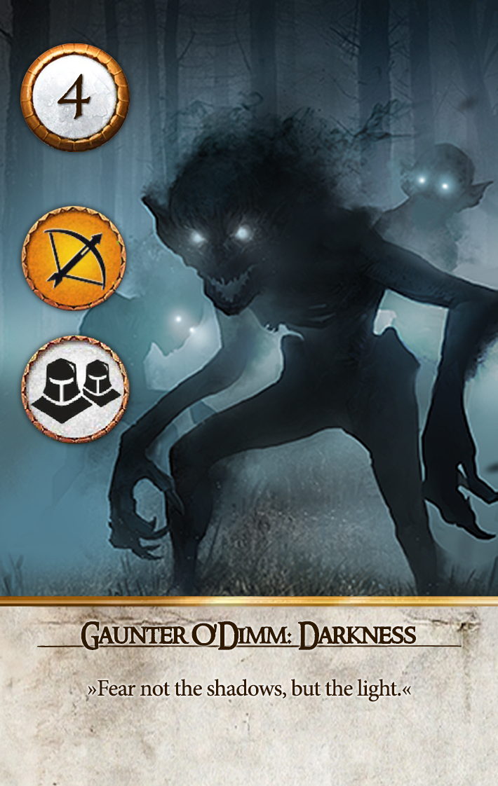 Gaunter O'Dimm: Darkness Gwent Card