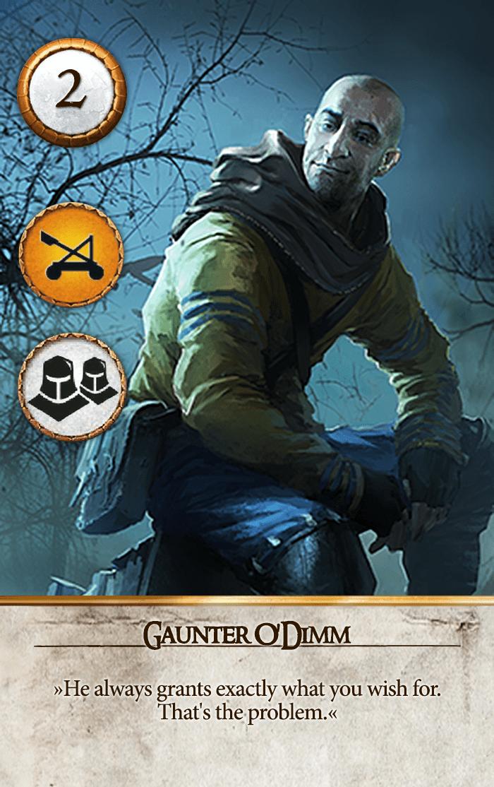 Gaunter O'Dimm Gwent Card