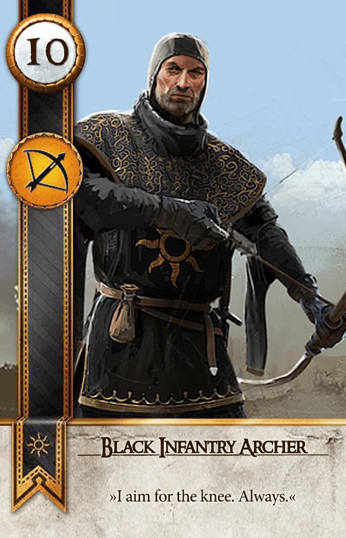Black Infantry Archer Gwent Card