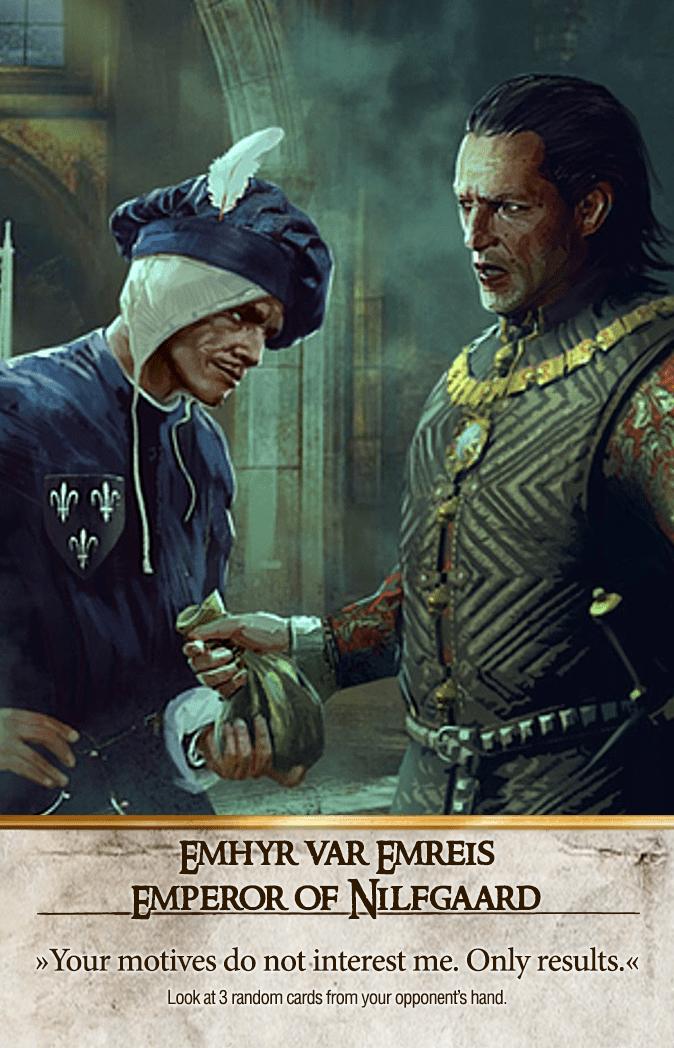 Emhyr var Emreis: Emperor of Nilfgaard Gwent Card