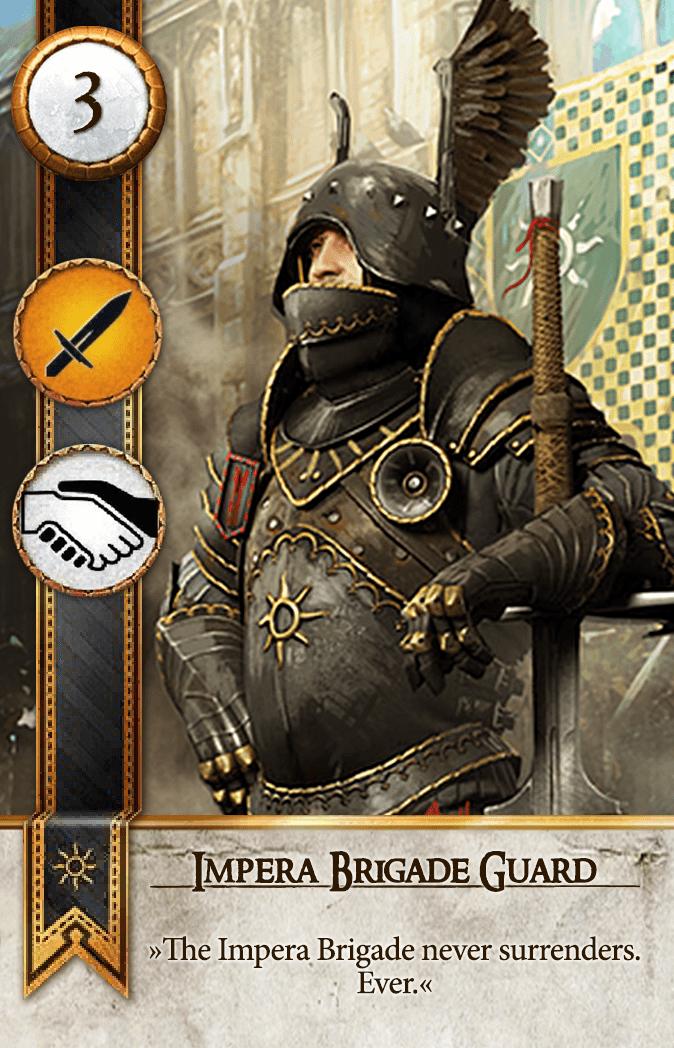 Impera Brigade Guard Gwent Card