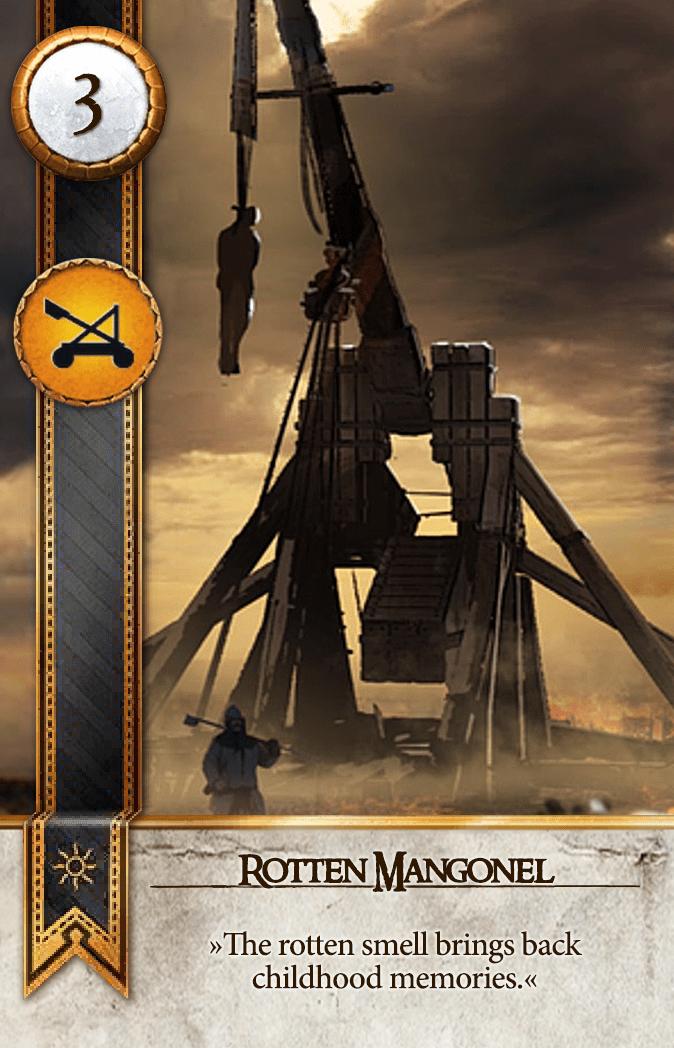 Rotten Mangonel Gwent Card