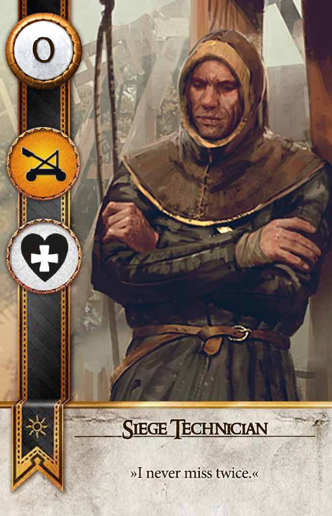 Siege Technician Gwent Card
