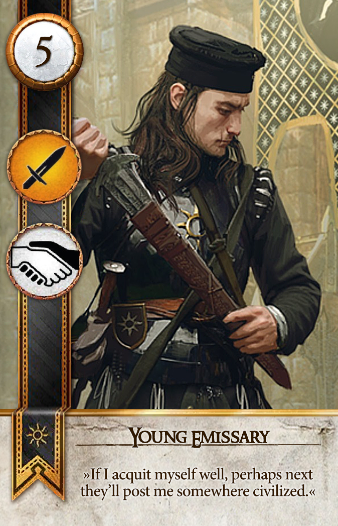 Young Emissary Gwent Card