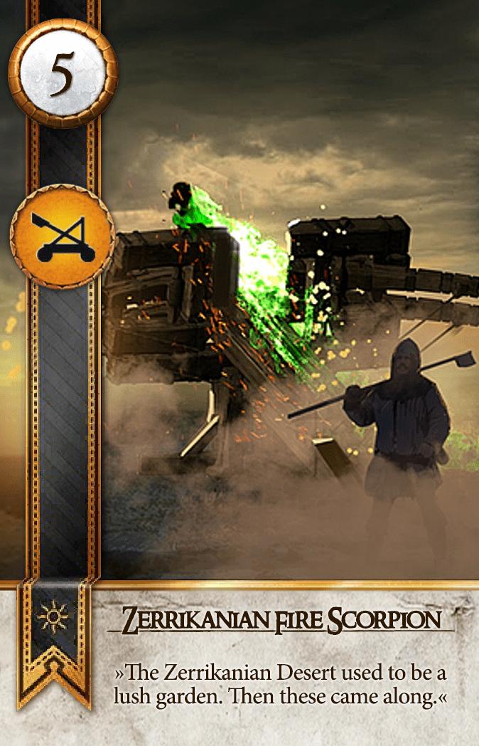 Zerrikanian Fire Scorpion Gwent Card