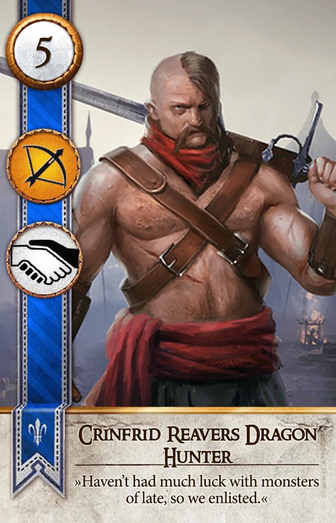 Crinfrid Reavers Dragon Hunter Gwent Card