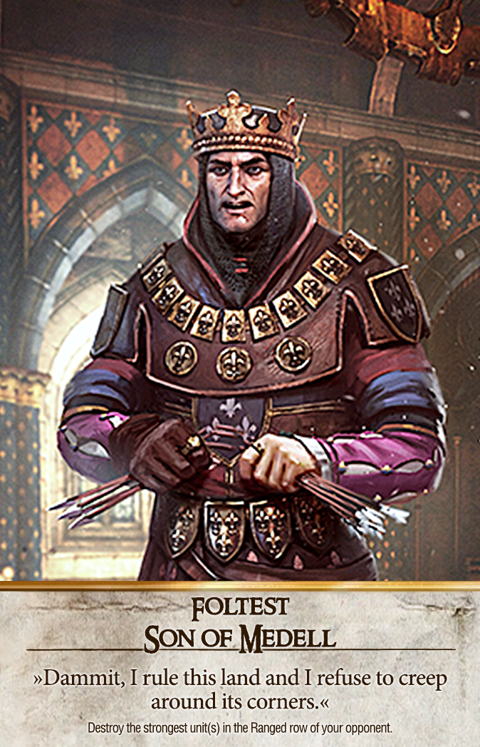Foltest: Son of Medell Gwent Card