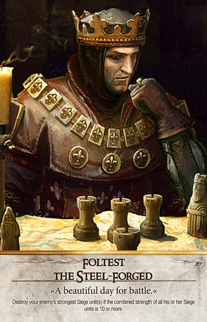 Foltest: The Steel-Forged Gwent Card