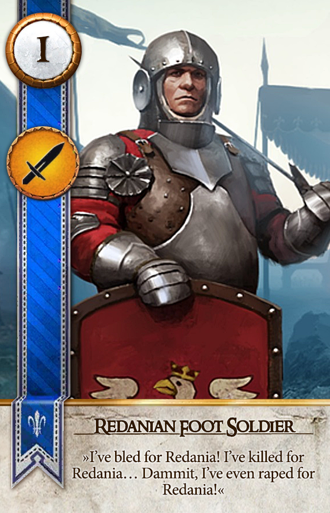 Redanian Foot Soldier Gwent Card