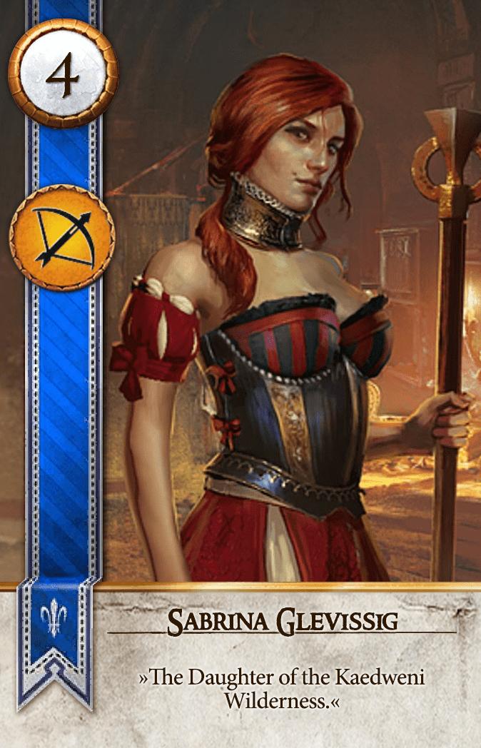 Sabrina Glevissig Gwent Card