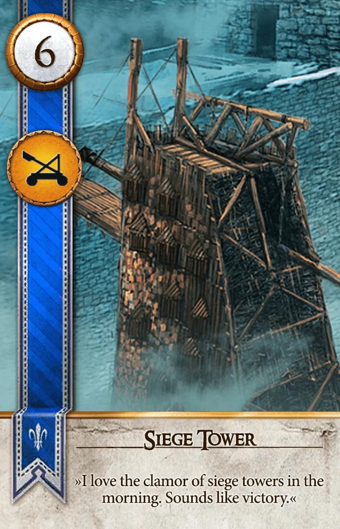 Siege Tower Gwent Card