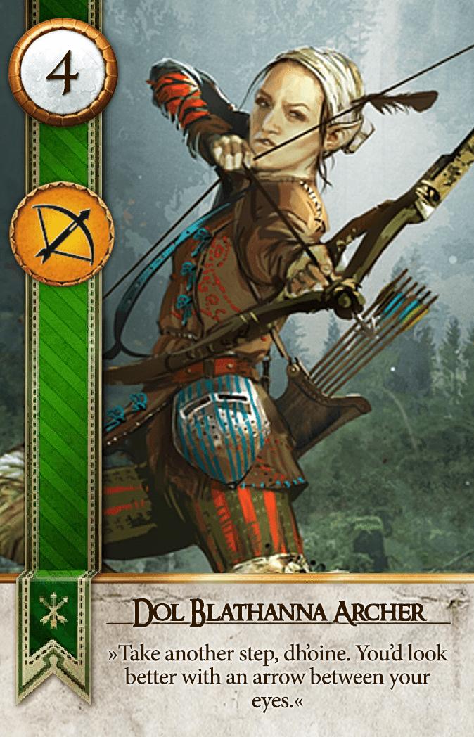 Dol Blathanna Archer Gwent Card