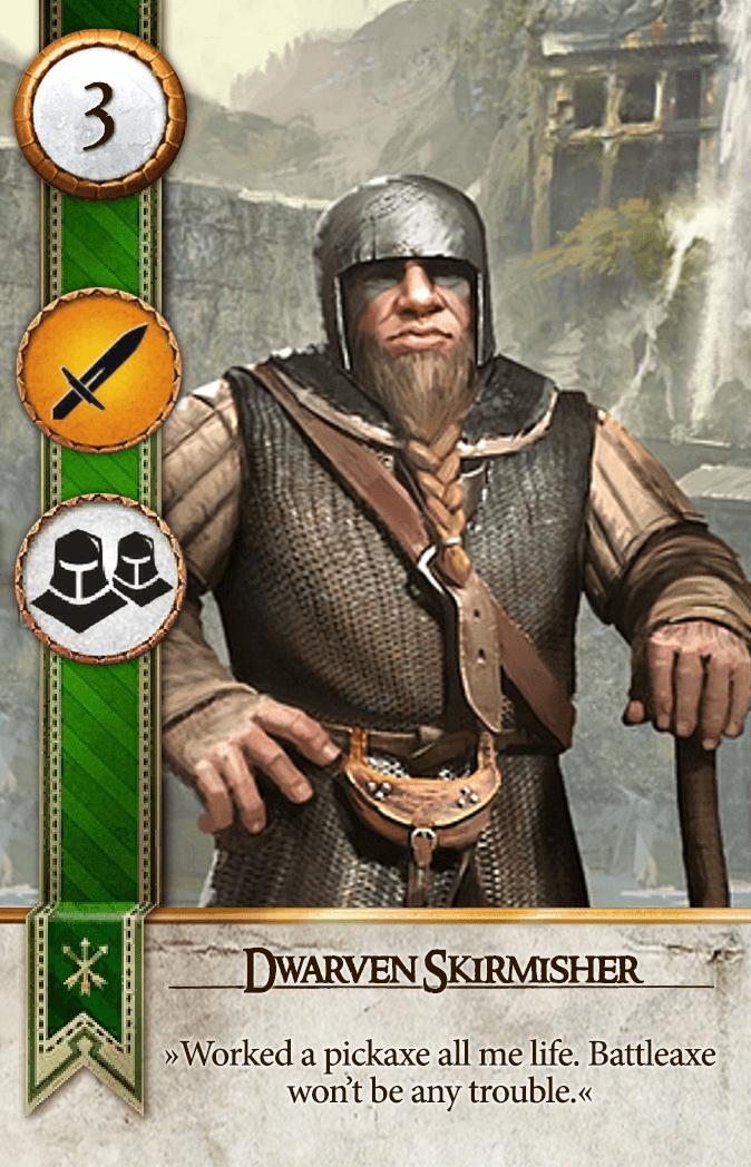 Dwarven Skirmisher Gwent Card