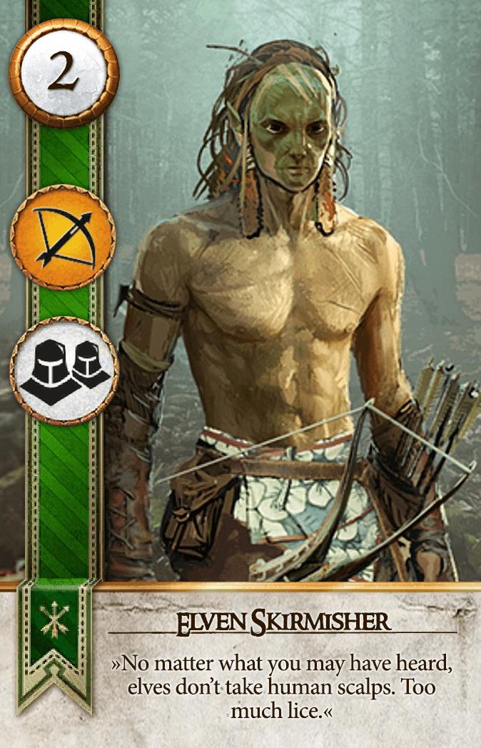 Elven Skirmisher Gwent Card