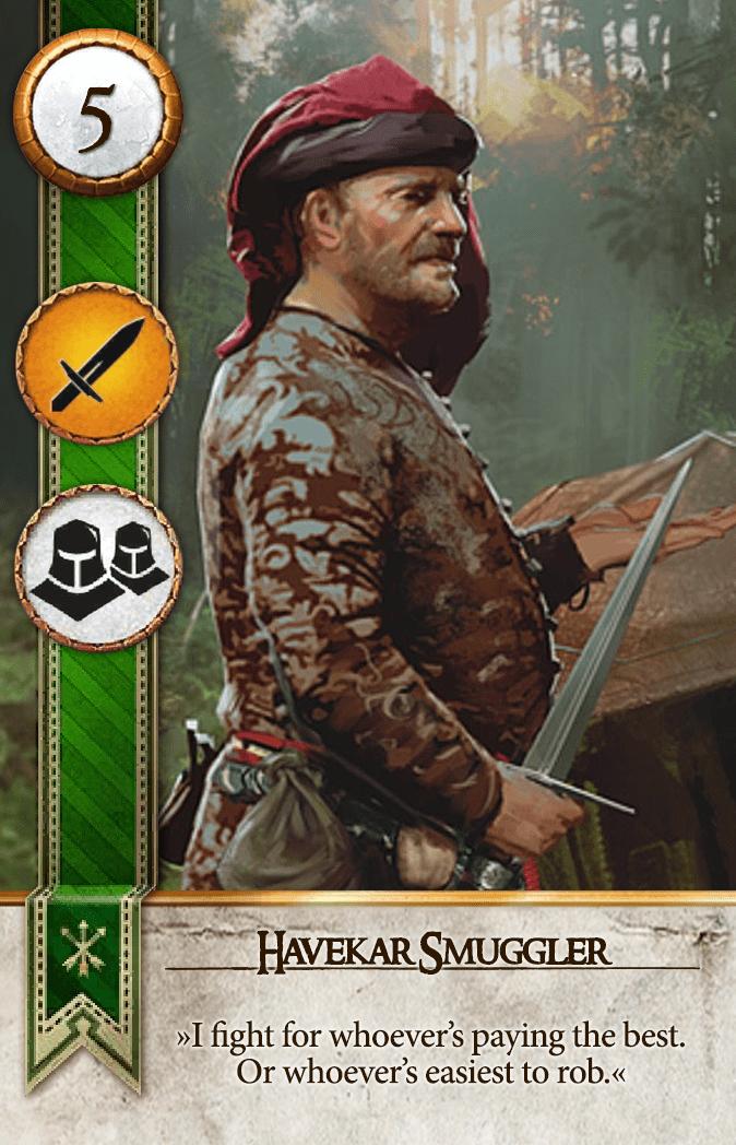 Havekar Smuggler Gwent Card