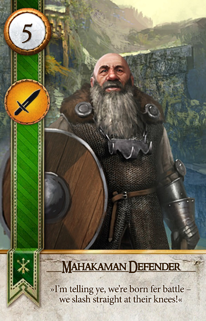 Mahakaman Defender Gwent Card