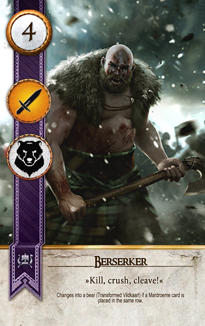 Berserker Gwent Card