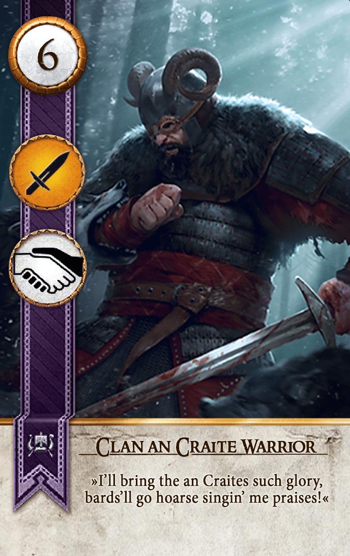 Clan an Craite Warrior Gwent Card