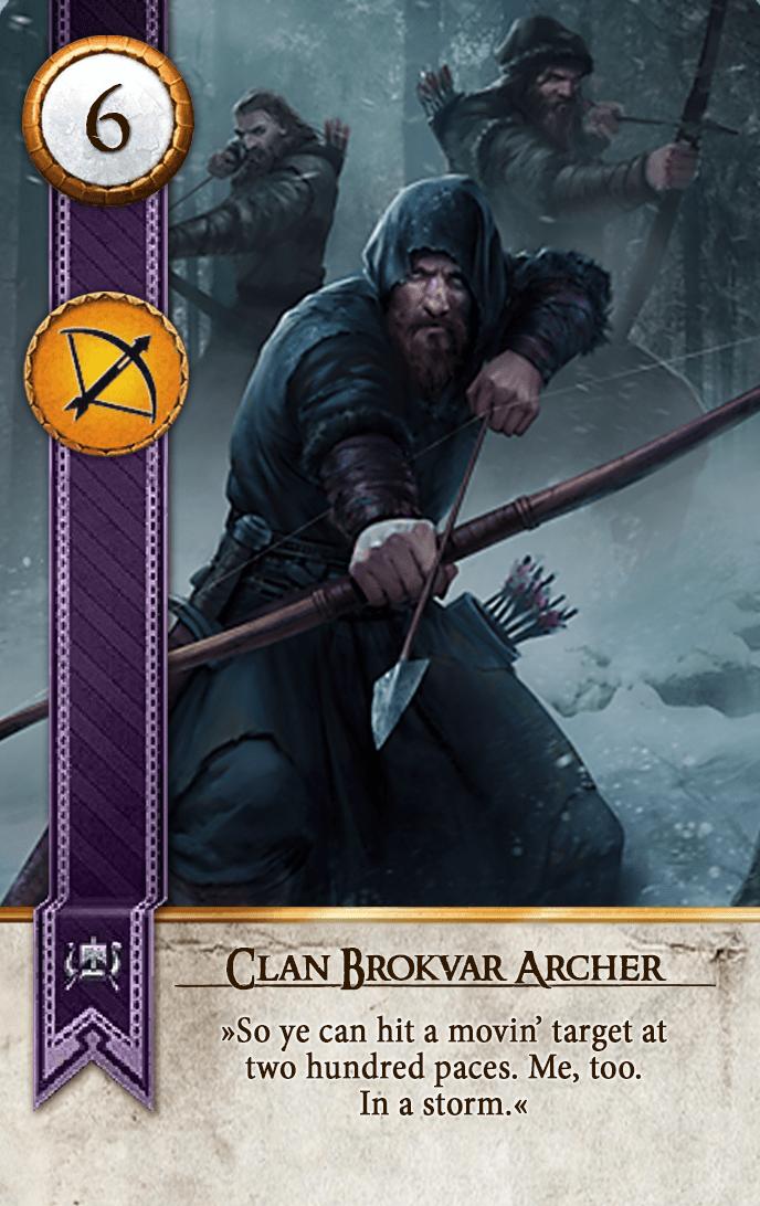 Clan Brokvar Archer Gwent Card