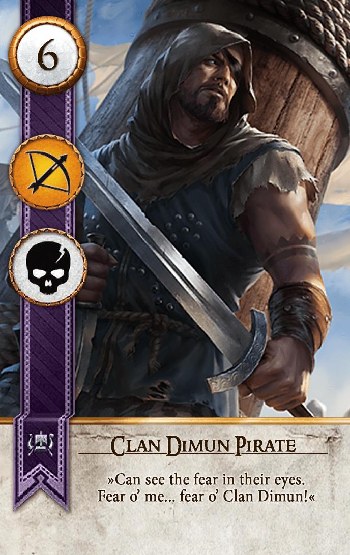 Clan Dimun Pirate Gwent Card