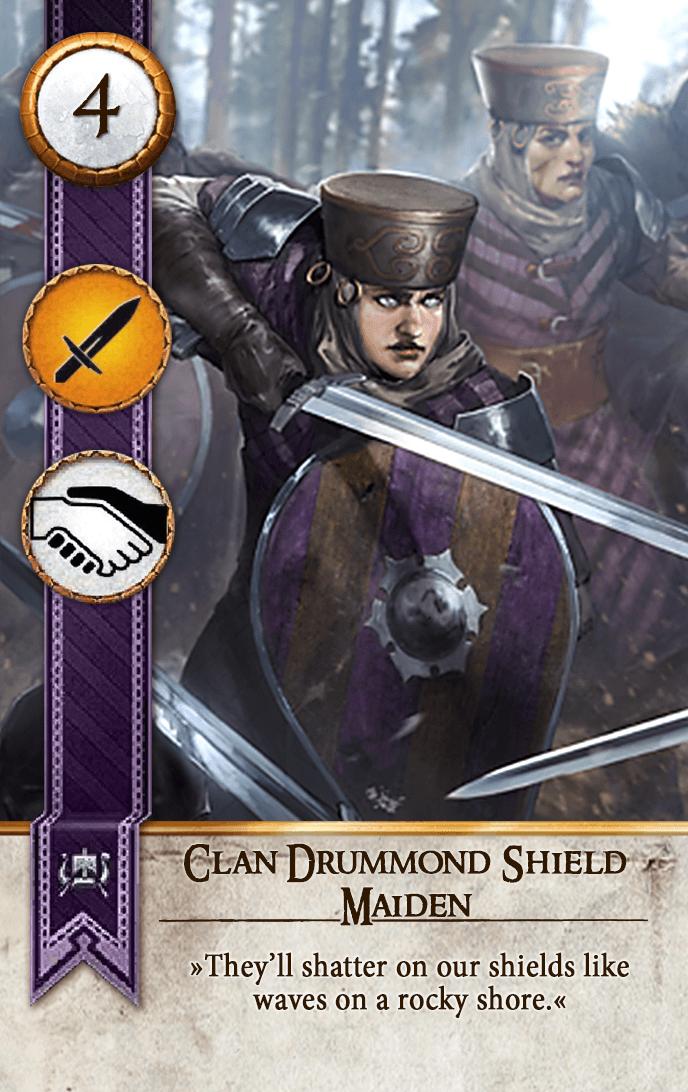 Clan Drummond Shield Maiden gwent Card