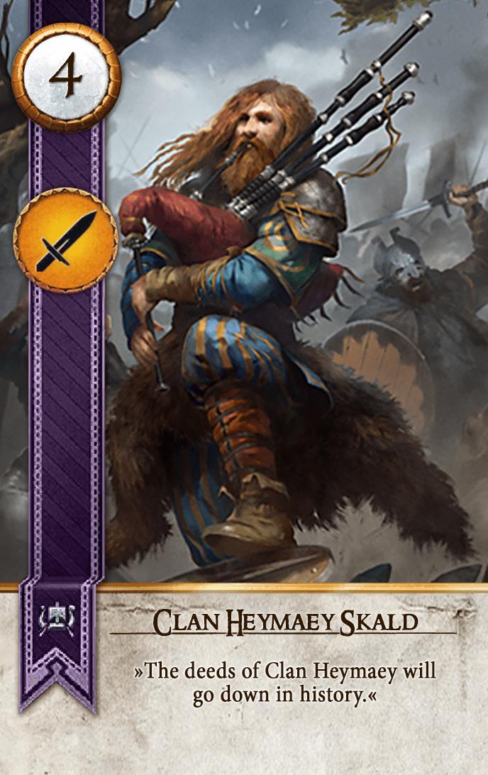 Clan Heymaey Skald Gwent Card