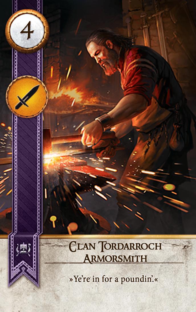 Clan Tordarroch Armorsmith Gwent Card