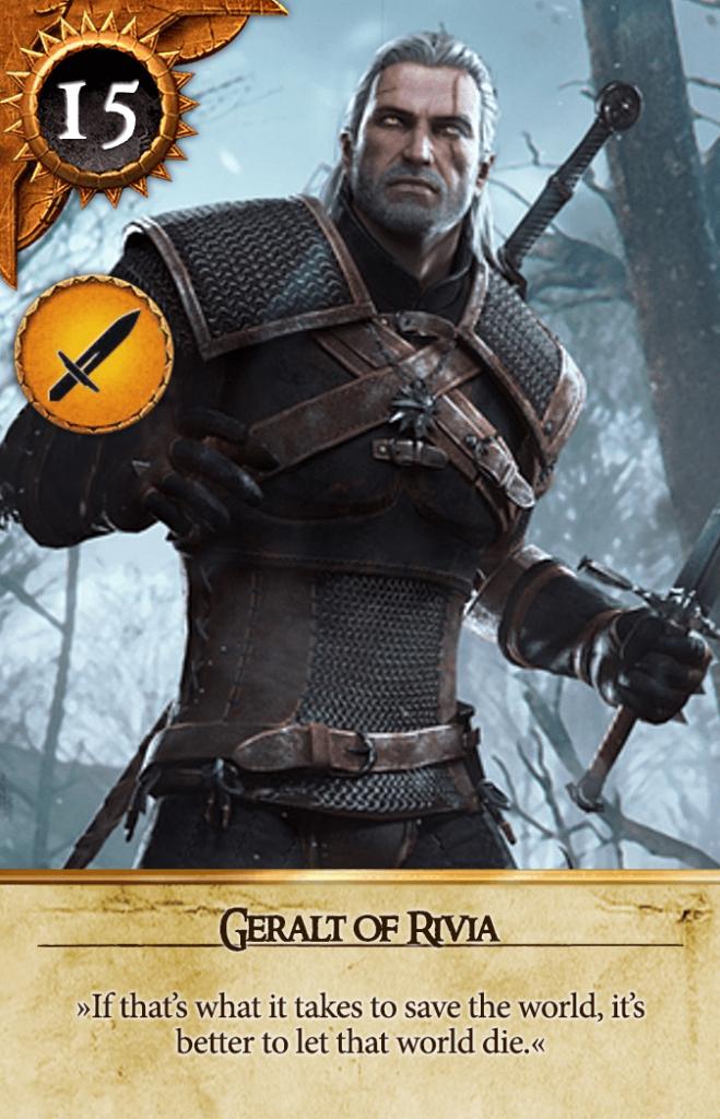 Geralt of Rivia Gwent Card