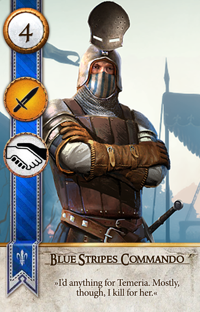 Blue Stripes Commando Gwent Card