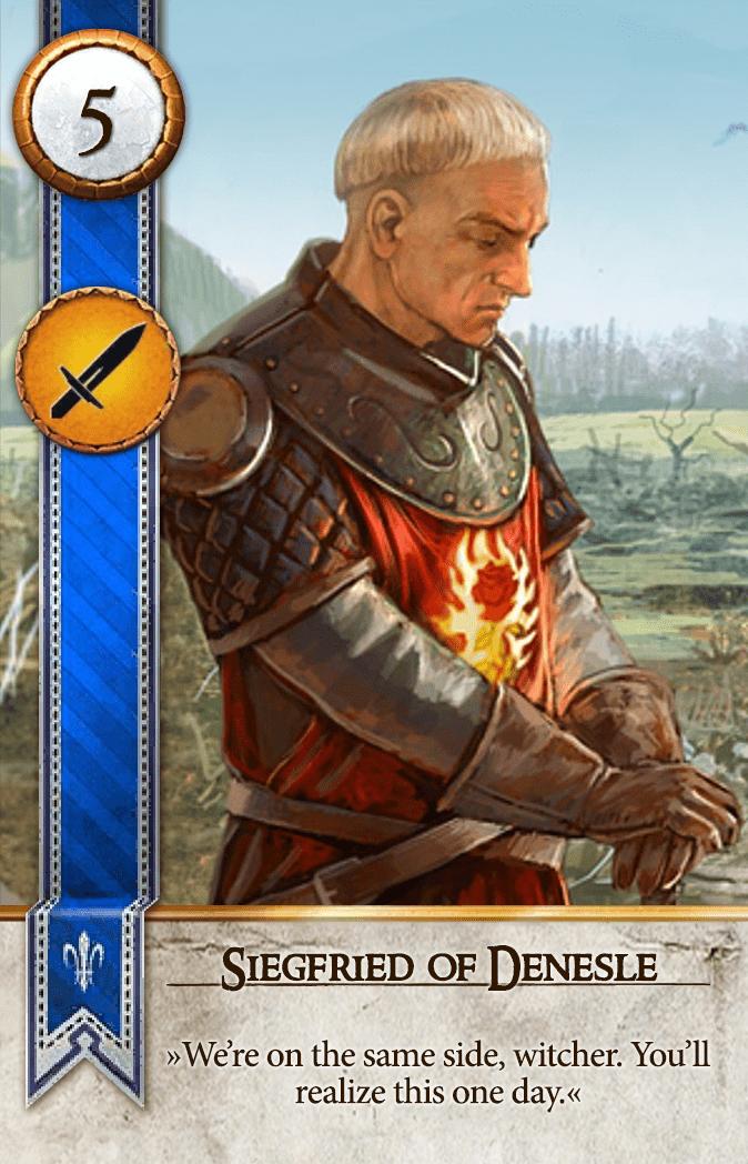 Siegfried of Denesle Gwent Card