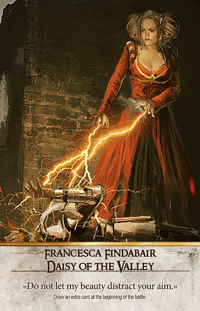 Francesca Findabair: Daisy of the Valley Gwent Card
