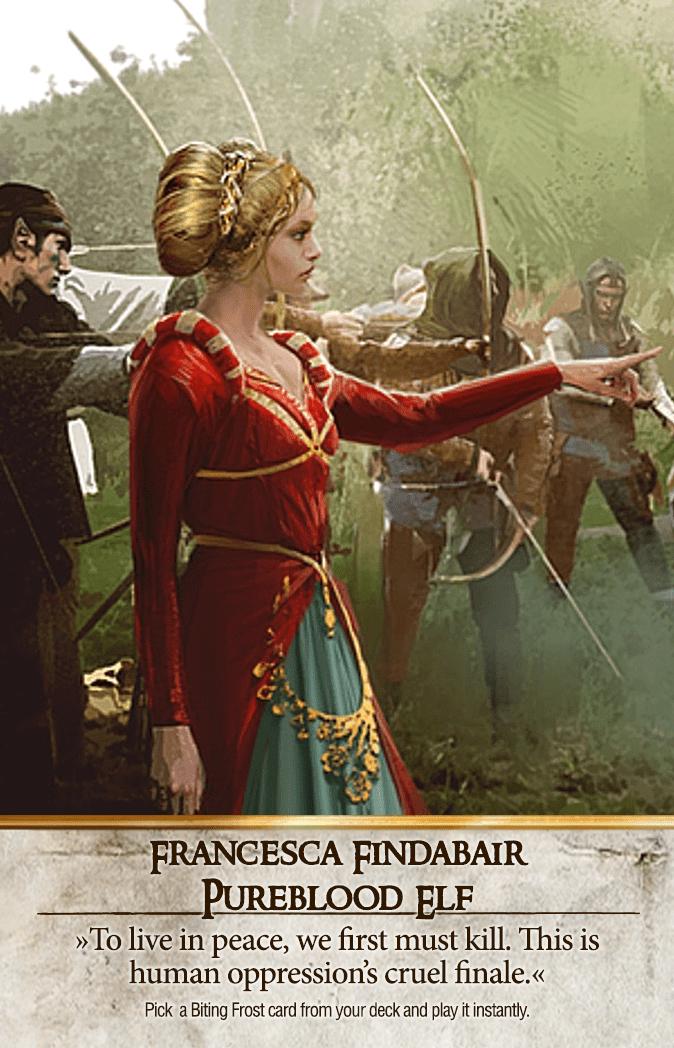 Francesca Findabair: Pureblood Elf Gwent Card