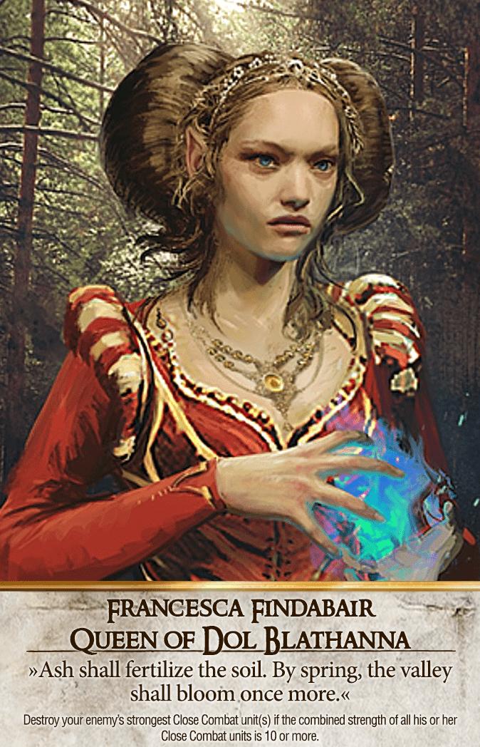 Francesca Findabair: Queen of Dol Blathanna Gwent Card