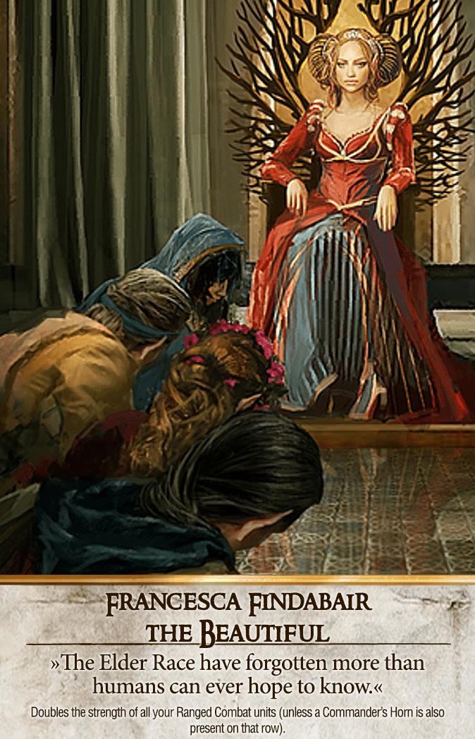 Francesca Findabair: The Beautiful Gwent Card